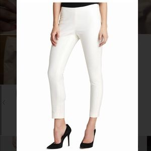 Vince Camuto Side Zip White Ankle Pant Size: 6.
